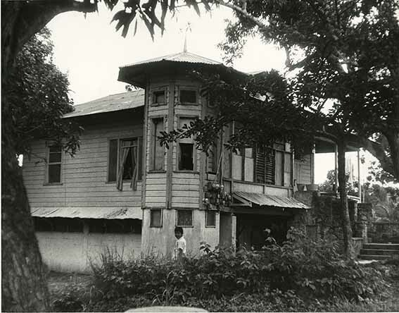 Old West India dwelling house in Panama