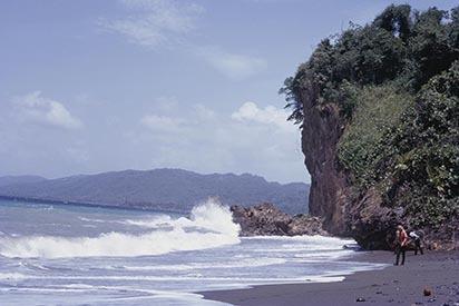 16 Coastal erosion, cliffs of volcanic rock, Portland (1972).jpg