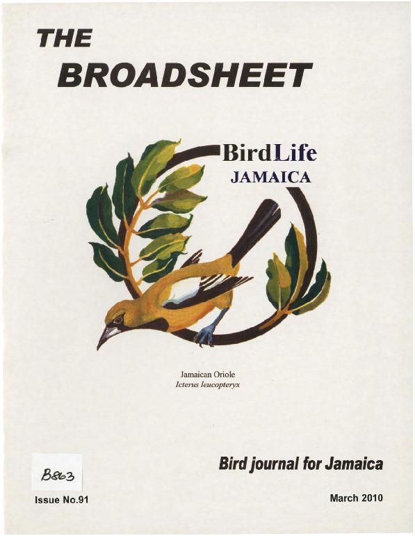 BirdLife Jamaica, Broadsheet_No. 91_Mar. 2010.pdf