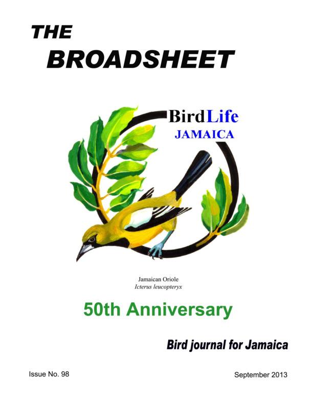 BirdLife Jamaica, Broadsheet_No. 98_Sep. 2013.pdf