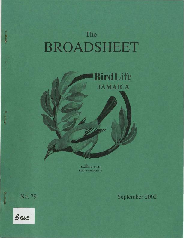 BirdLife Jamaica, Broadsheet_No. 79_Sep. 2002.pdf