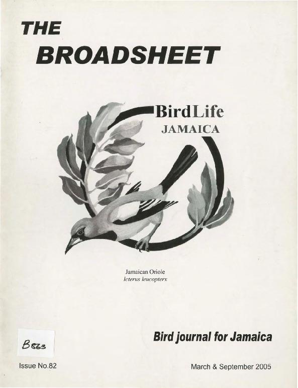 BirdLife Jamaica, Broadsheet_No. 82_Mar. - Sep. 2005.pdf