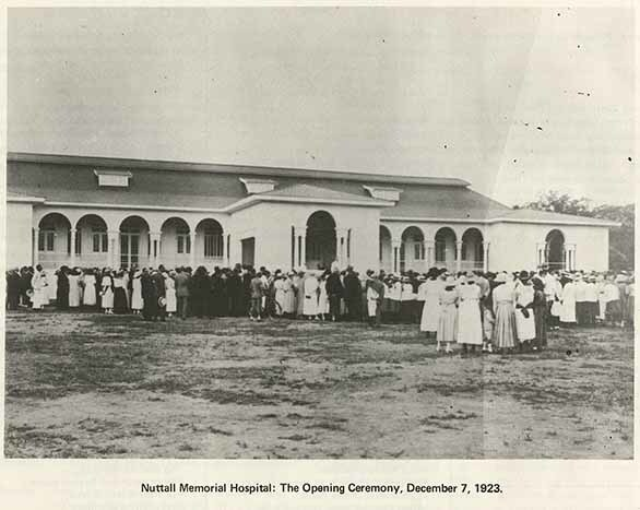 Nuttall Memorial Hospital : the opening ceremony