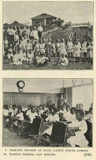 Primary grades at play, Gatun White School <br />  Native School, San Miguel