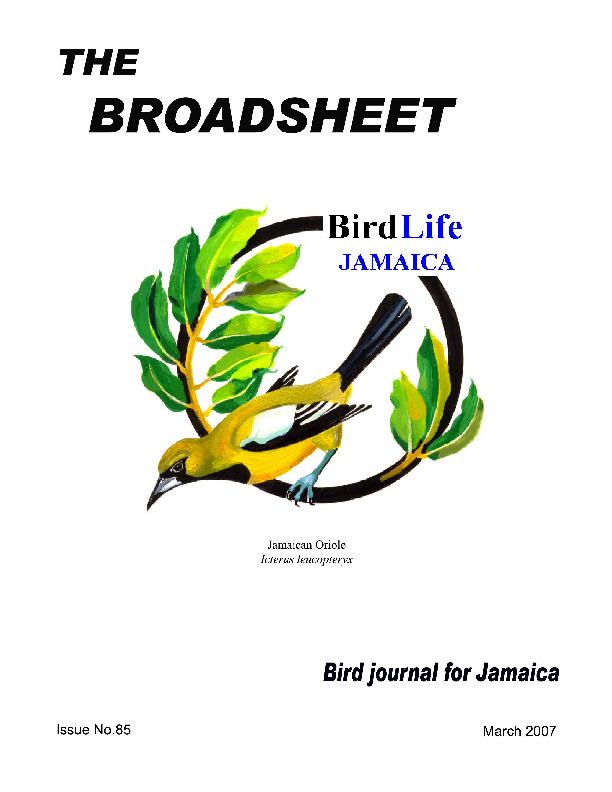 BirdLife Jamaica, Broadsheet_No. 85_Mar. 2007.pdf