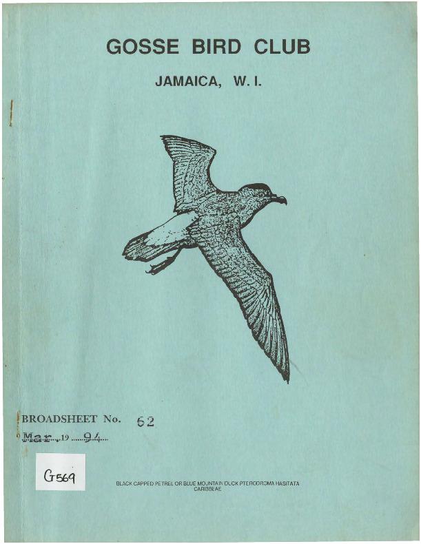 Gosse Bird Club, Broadsheet_No. 62_Mar. 1994.pdf
