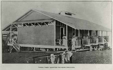 Typical family quarters for Negro employees, Report Isthmian Canal Commission plate 117