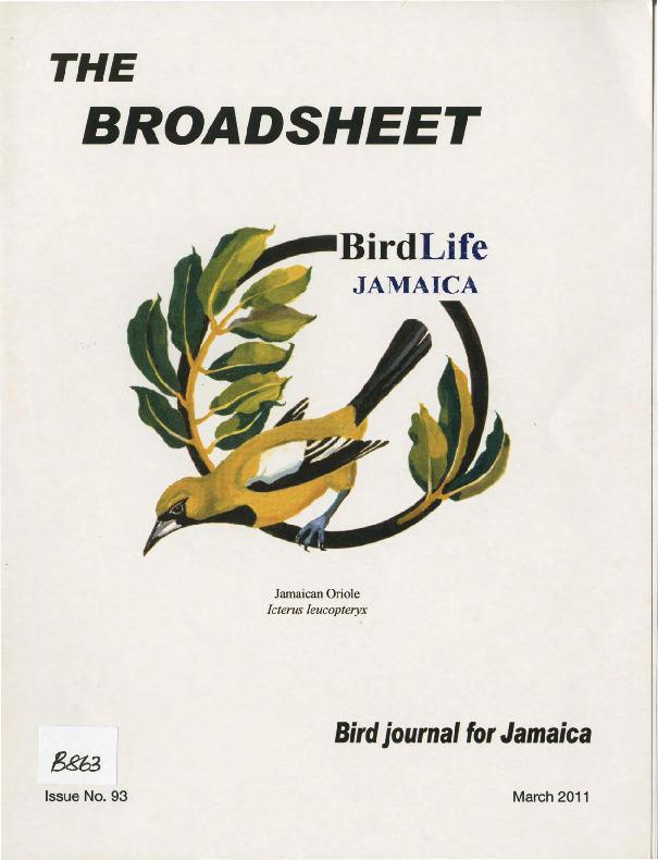 BirdLife Jamaica, Broadsheet_No. 93_Mar. 2011.pdf