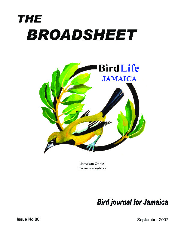 BirdLife Jamaica, Broadsheet_No. 86_Sep. 2007.pdf