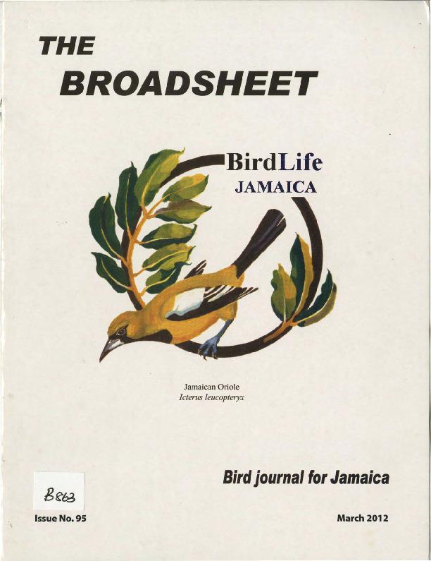BirdLife Jamaica, Broadsheet_No. 95_Mar. 2012.pdf
