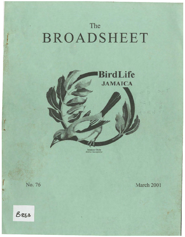 BirdLife Jamaica, Broadsheet_No. 76_Mar. 2001.pdf