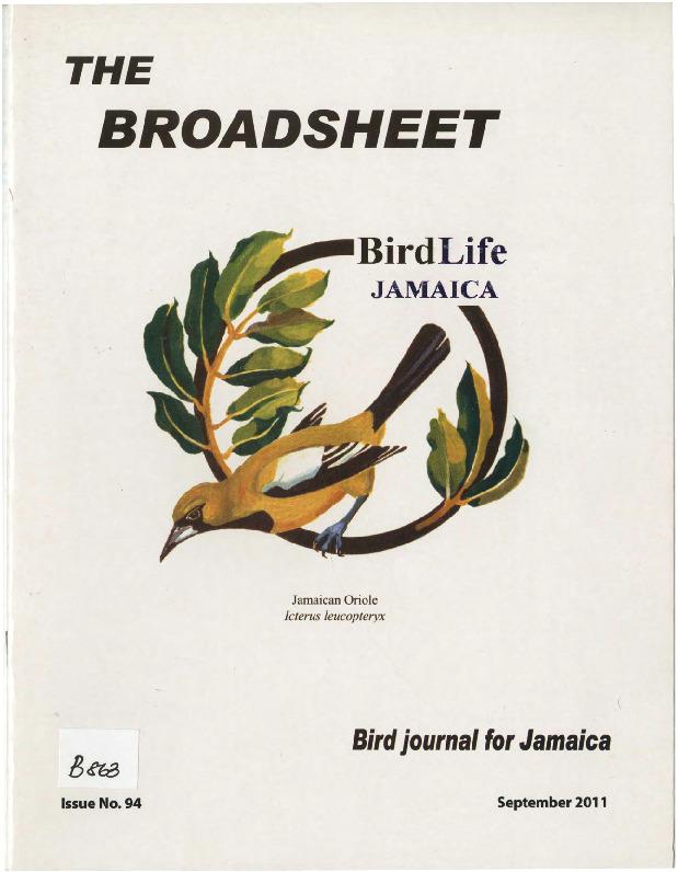 BirdLife Jamaica, Broadsheet_No. 94_Sep. 2011.pdf