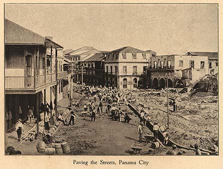 Paving the streets, Panama City