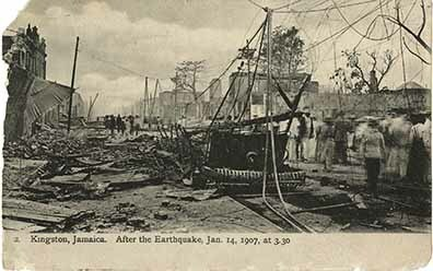 Kingston, Jamaica after the earthquake, Jan 14, 1907 at 3:30