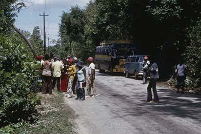 35 UWI Geography Field Trip, A2 Road near Cave, Westmoreland (1972).jpg