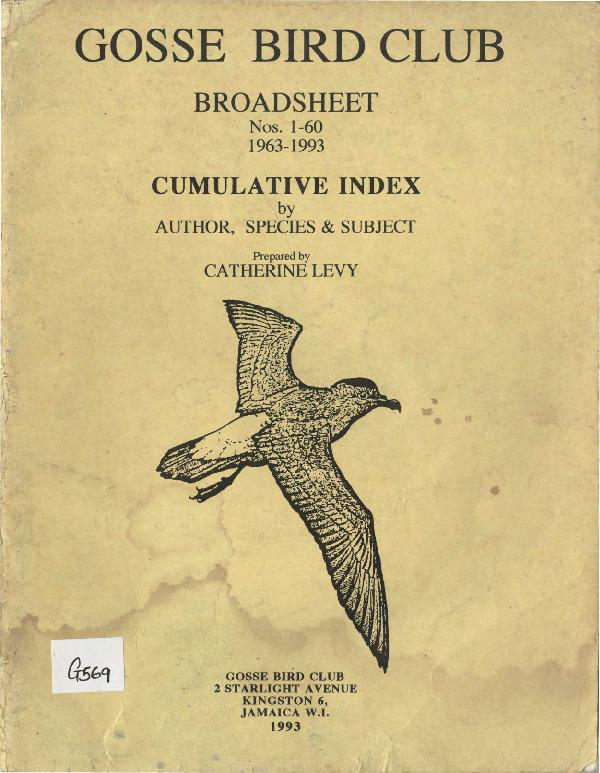 Gosse Bird Club, Broadsheet_No. 1 - 60_1963-1993_Cumulative index.pdf