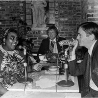 "Miss Lou appearing live on ""Luncheon with Gus"" in Boston"