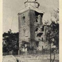 Parish Church, Kingston Jamaica after earthquake Jan 14, 1907