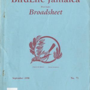 BirdLife Jamaica, Broadsheet_No. 71_Sep. 1998.pdf