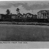 A view of Falmouth from the sea, 1935